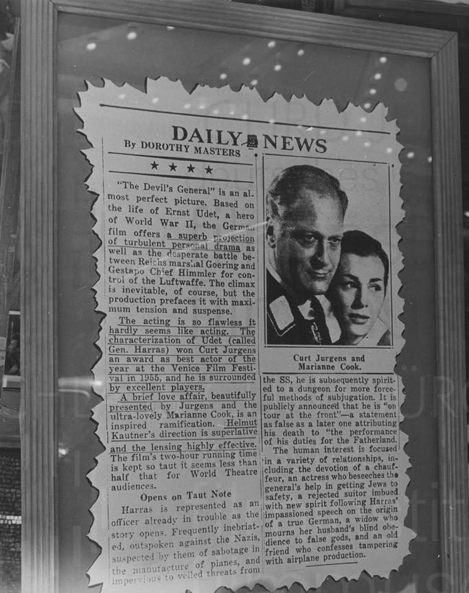 DES TEUFELS GENERAL (1955) Dokumentation der Werbemaßnahmen zum US-release, 1957