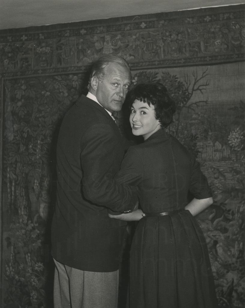 Curd Jürgens mit Elma Karlowa