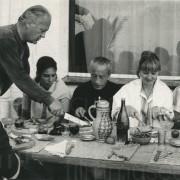 Curd Jürgens mit Liselotte Pulver und Hannes Obermeier