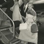 Curd Jürgens mit Romy und Magda Schneider