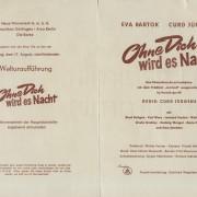 OHNE DICH WIRD ES NACHT (1956)
