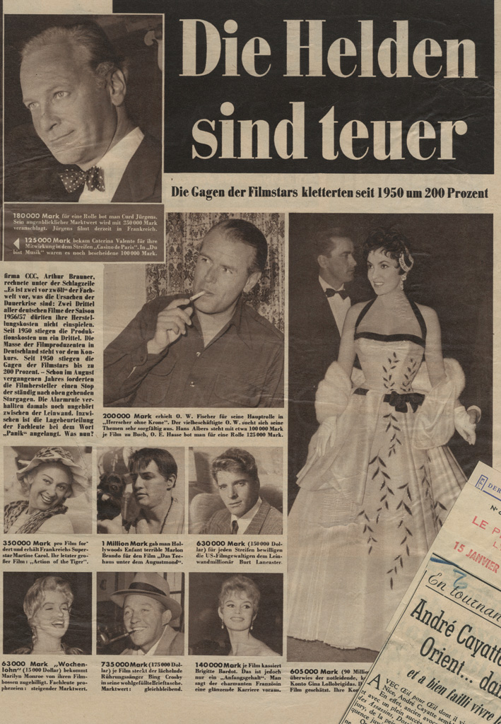 """N.N.: """"Die Helden sind teuer"""", [1957]"""