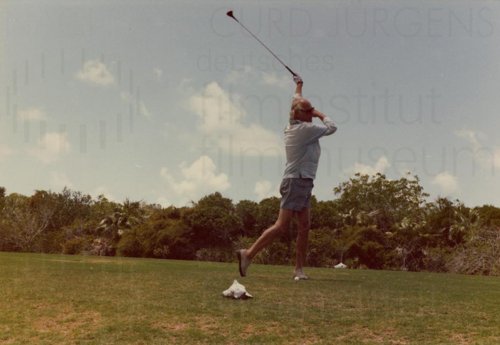 Curd Jürgens privat, Golf