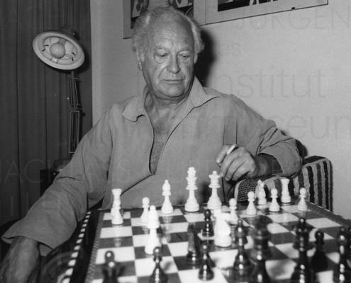 Curd Jürgens privat, Schachspiel, 1970er Jahre