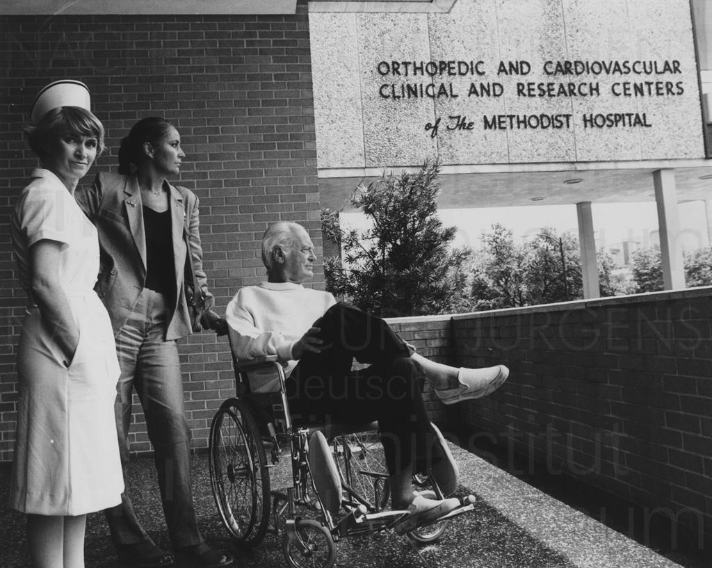 PR-Foto, Herzoperation Houston, 1980