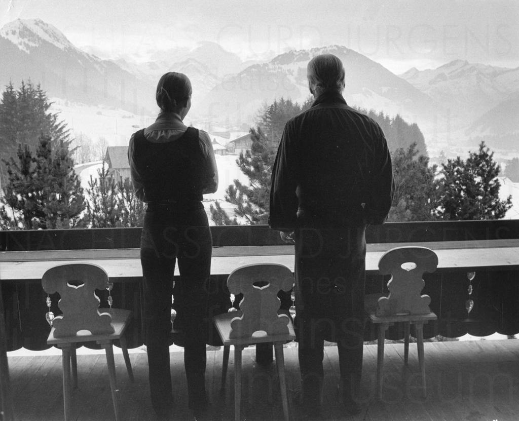 Curd und Simone, Gstaad, 1972
