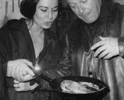 PR-Foto, Curd und Simone privat, Angeln, ca. 1960