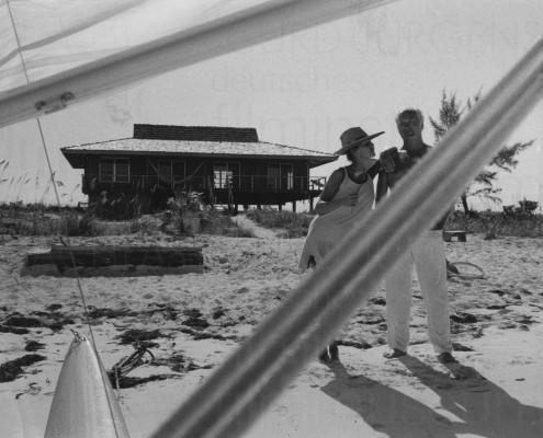 PR-Foto, Curd und Simone, Bahamas, 1970er Jahre