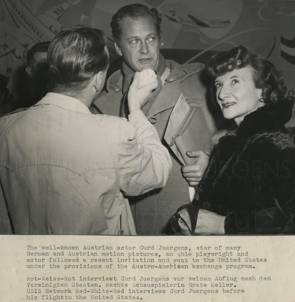 PR-Foto, Curd geht nach Hollywood, 1950er Jahre