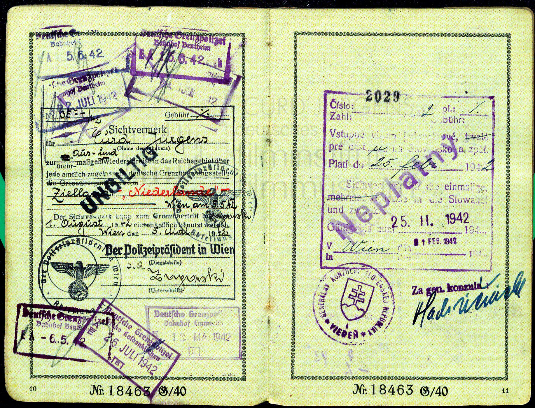 Reisepass des Deutschen Reichs, 1941