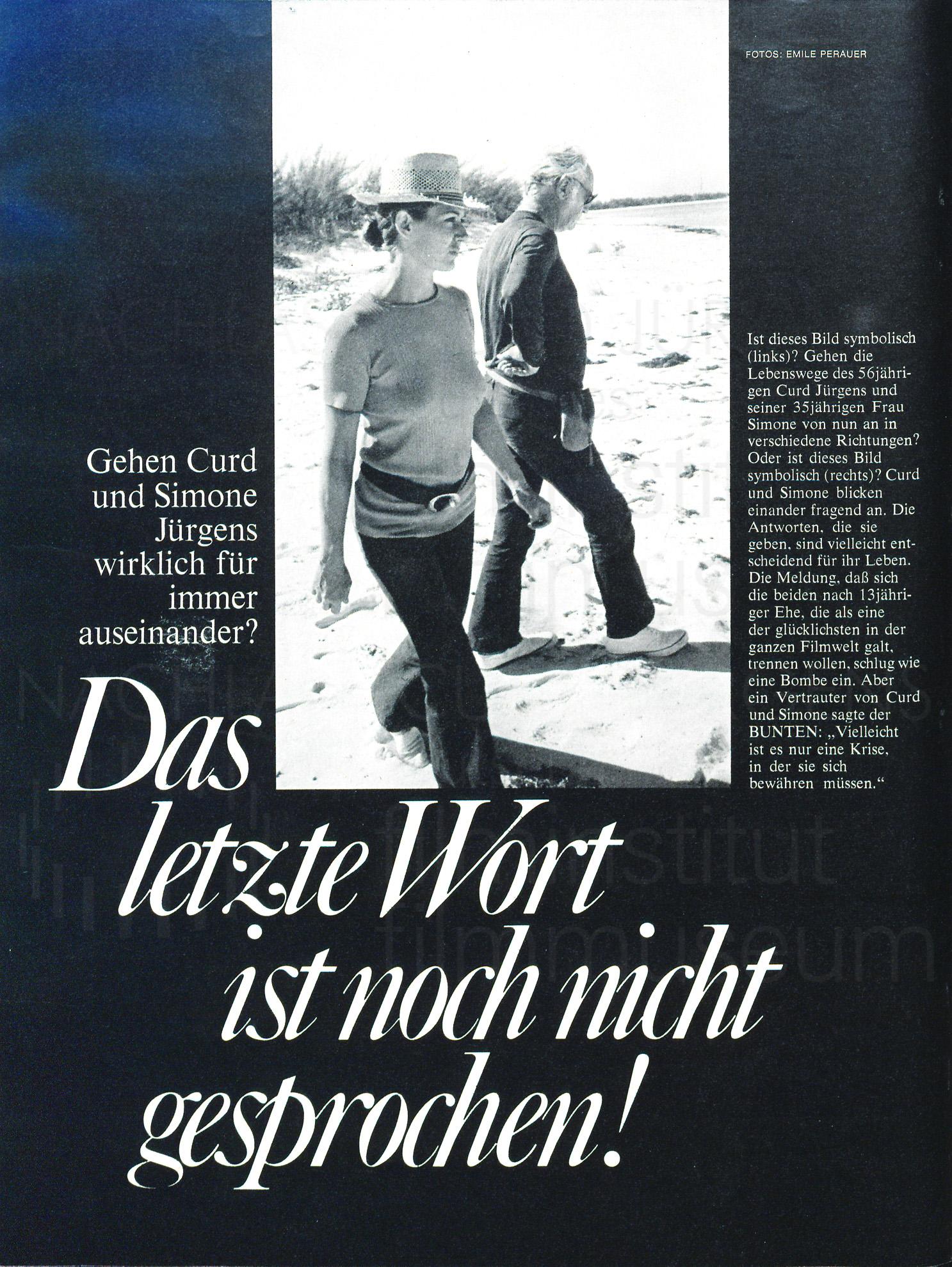 """BUNTE: """"Das letzte Wort ist noch nicht gesprochen!"""", 1971"""