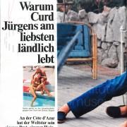 """Constanze: """"Warum Curd Jürgens am liebsten ländlich lebt"""", 1969"""