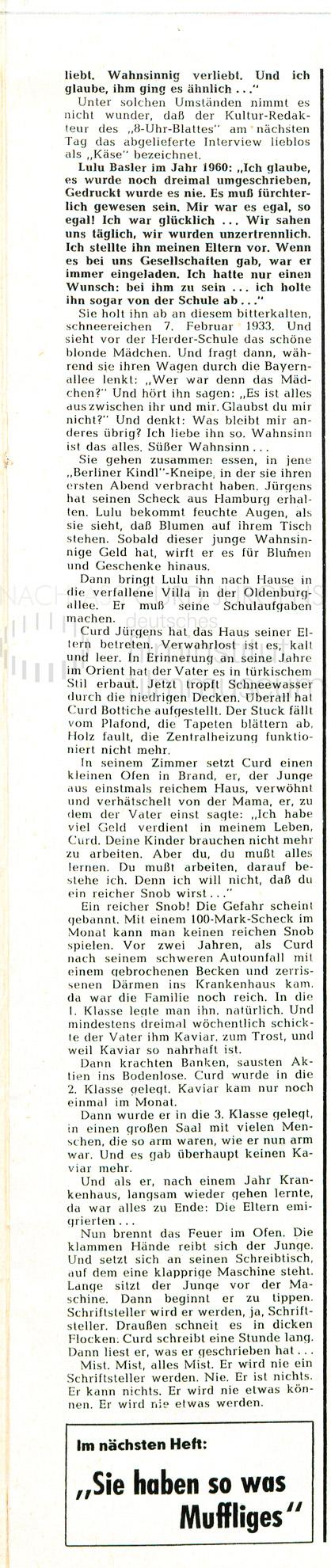 "QUICK: ""Curd Jürgens"", 1960"