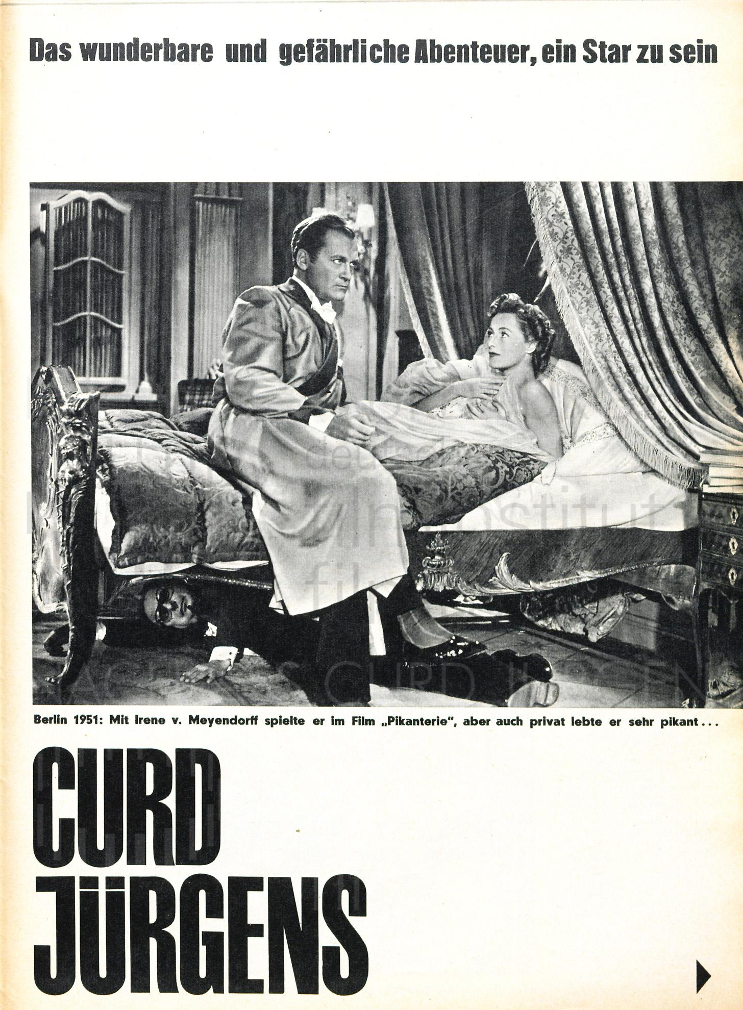 """QUICK: """"Curd Jürgens. Das wunderbare und gefährliche Abenteuer, ein Star zu sein"""", 1961, Teil 1"""