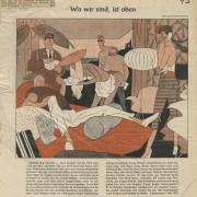 """Abendpost: """"Wo wir sind, ist oben"""", Mai 1957"""