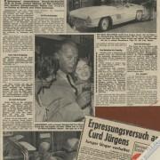 """BILD-Telegraf: """"Mit 100 'Sachen': Weltstar Curd Jürgens kam nach Wien, packte ein und zog aus"""", 12.9.1957"""