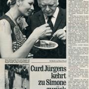"Frau im Spiegel: ""Curd Jürgens kehrt zu Simone zurück"", Nr. 32,1972"
