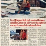 """Neue Post: """"Curd Jürgens ließ sich von drei Frauen scheiden, aber [...]"""", Nr. 5, 1972"""