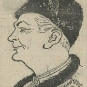 MICHEL STROGOFF (1956) Curd-Jürgens-Karikatur, 1956