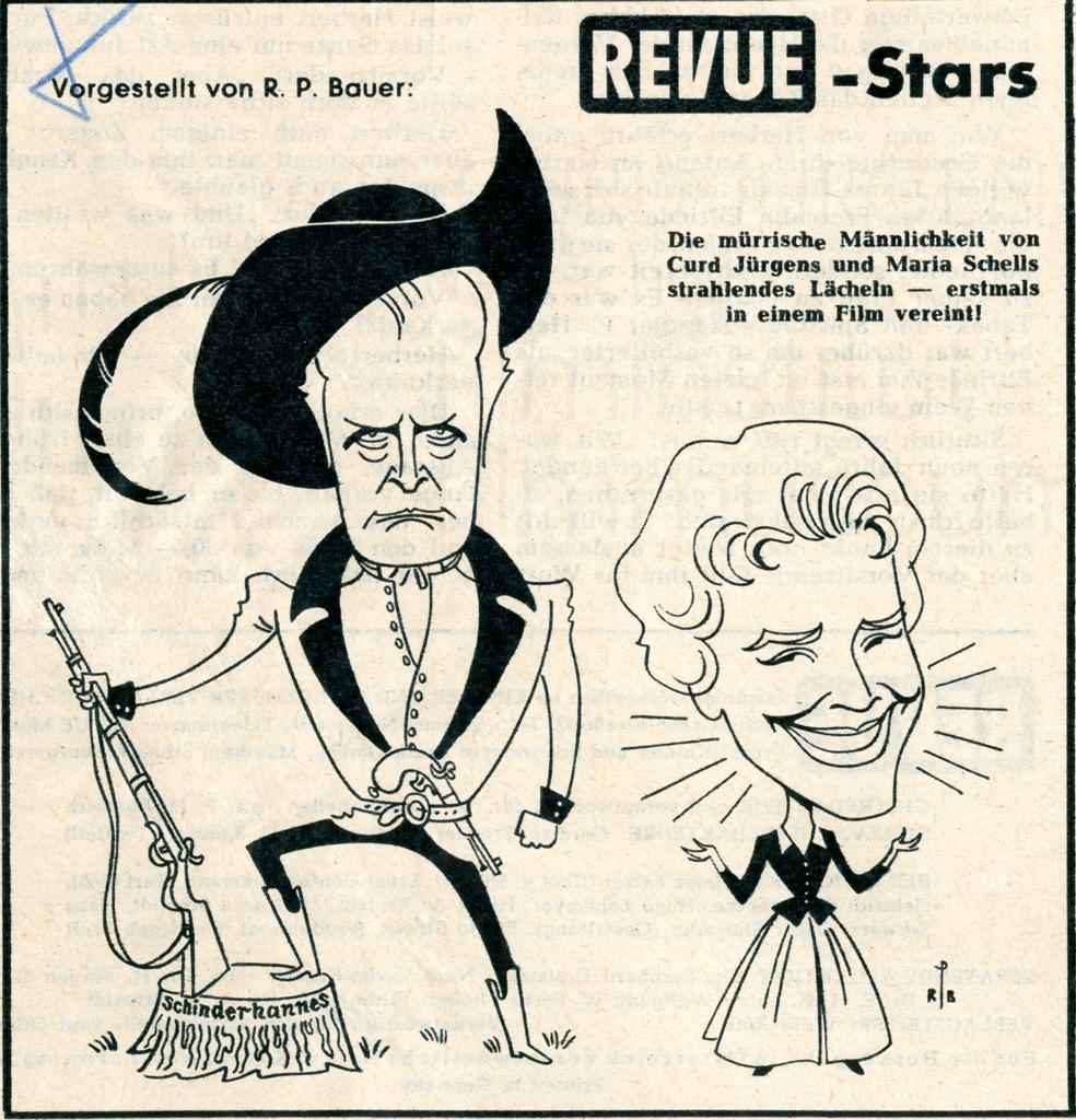 DER SCHINDERHANNES (1958) Karikatur