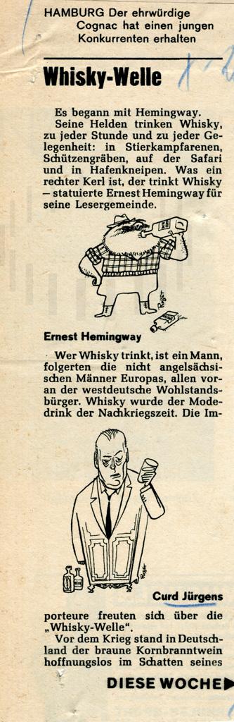 Curd-Jürgens-Karikatur, dt., 1962