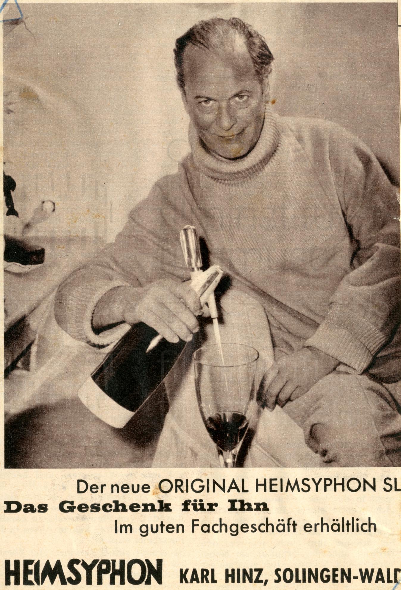 Werbung für HEIMSYPHON, 1960