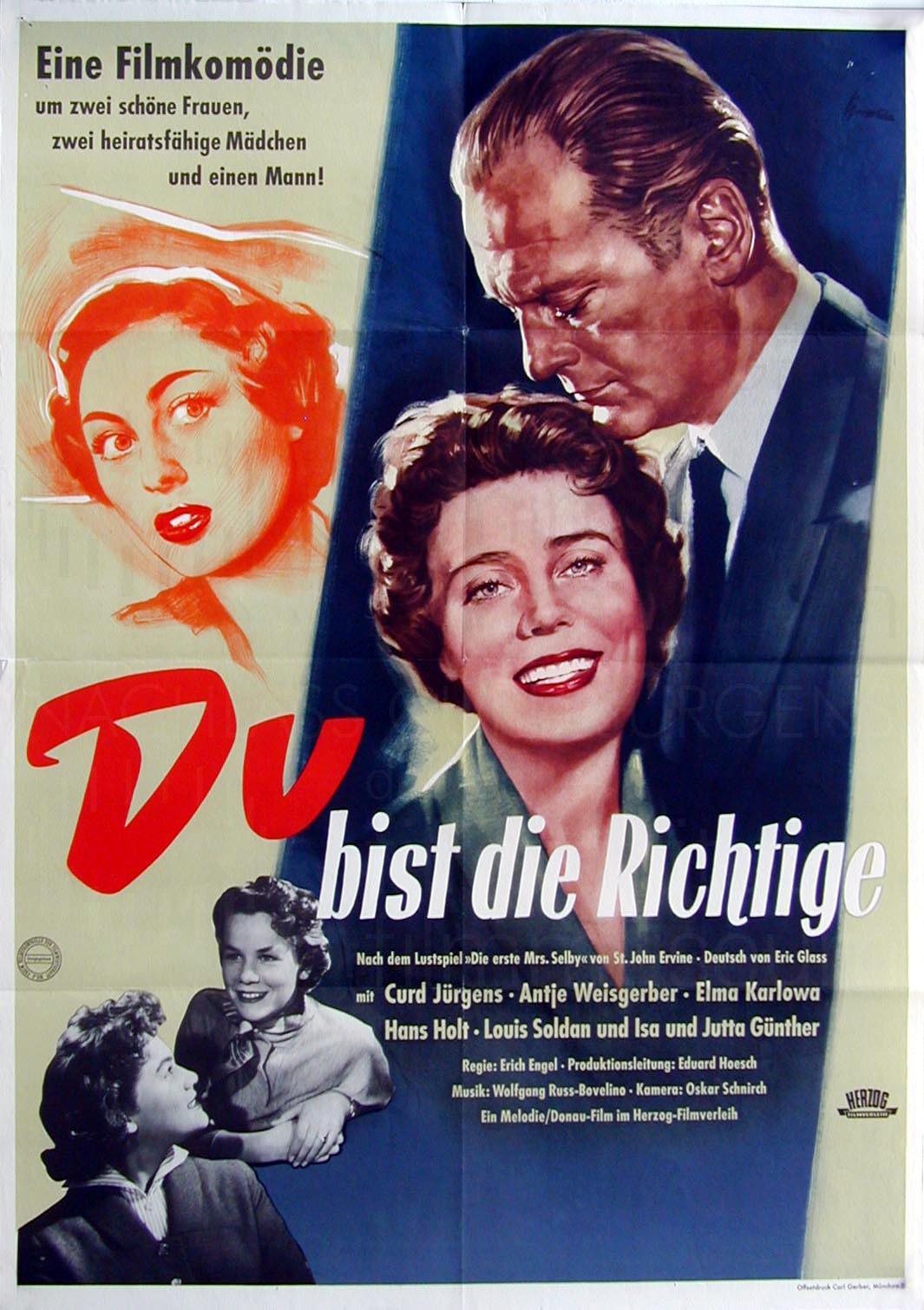 DU BIST DIE RICHTIGE (1955)