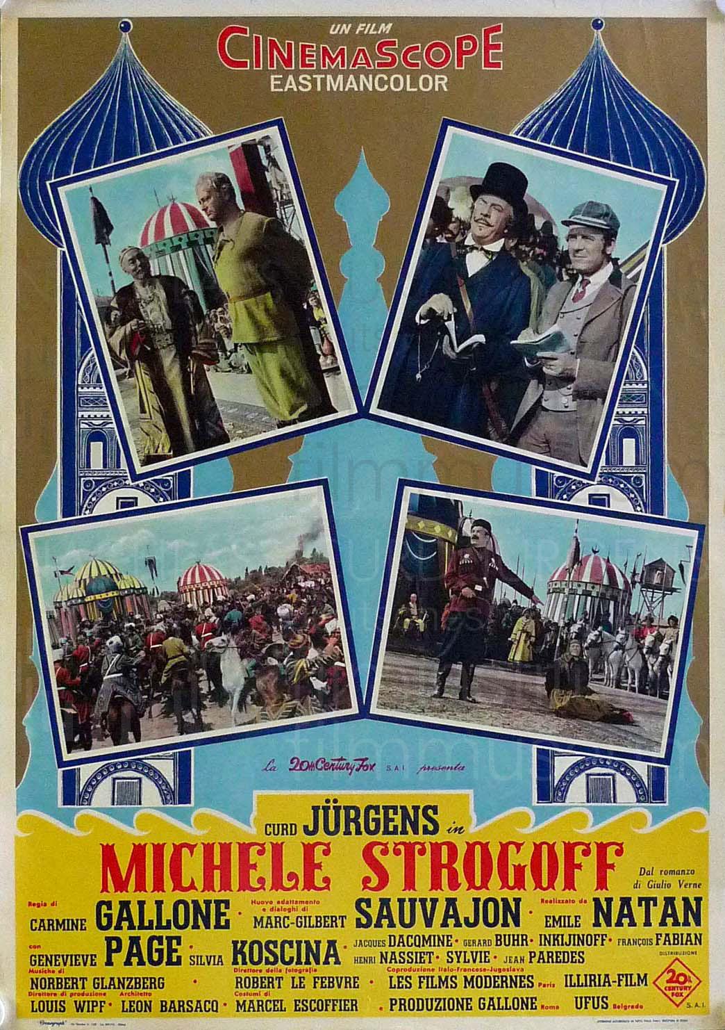 MICHEL STROGOFF (1956) ital. Plakat