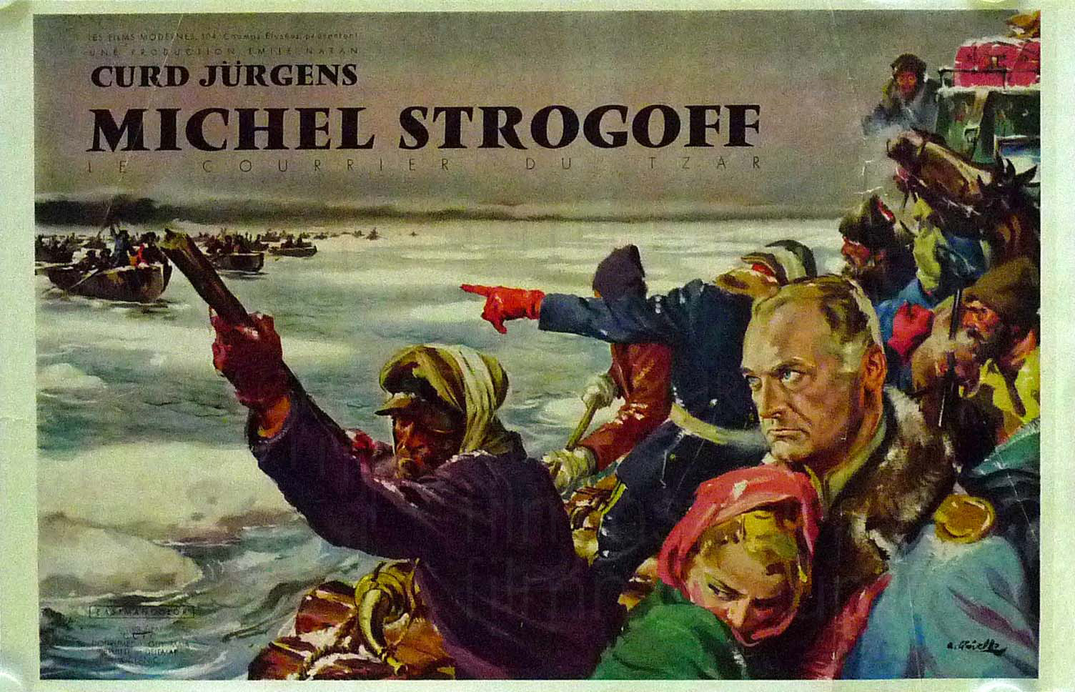 MICHEL STROGOFF (1956) frz. Plakat