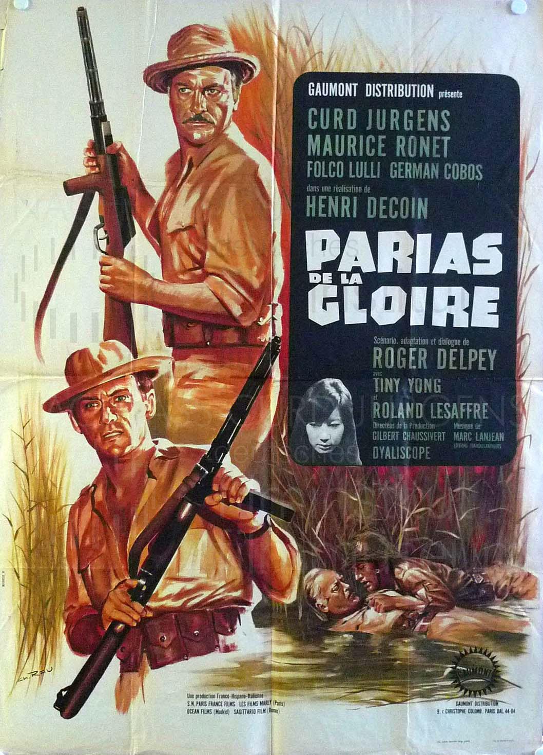 LES PARIAS DE LA GLOIRE (1964) frz. Plakat