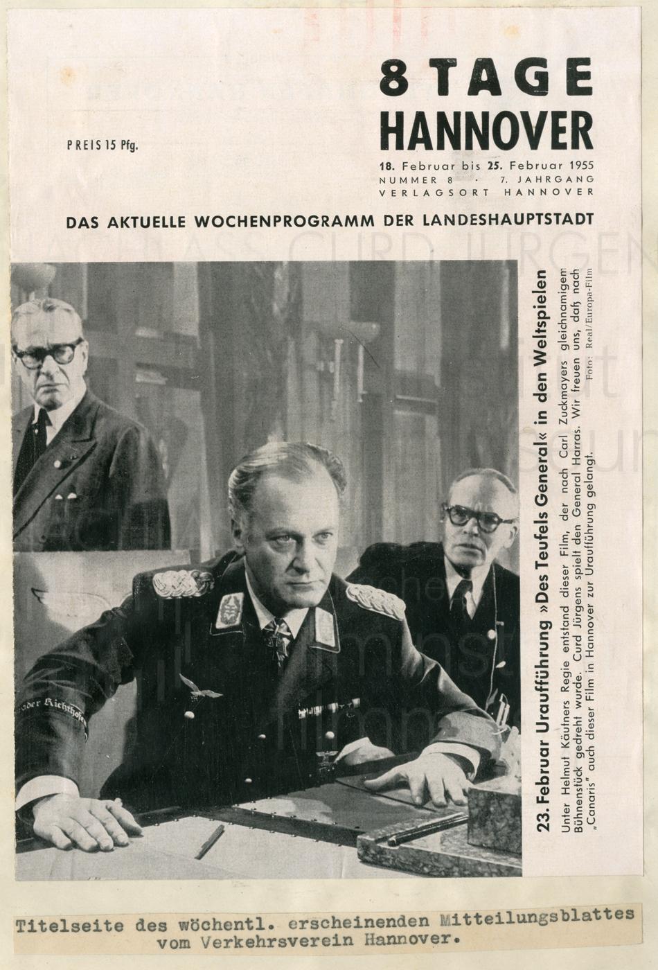DES TEUFELS GENERAL (1955) 8 Tage Hannover, 18.2.1955