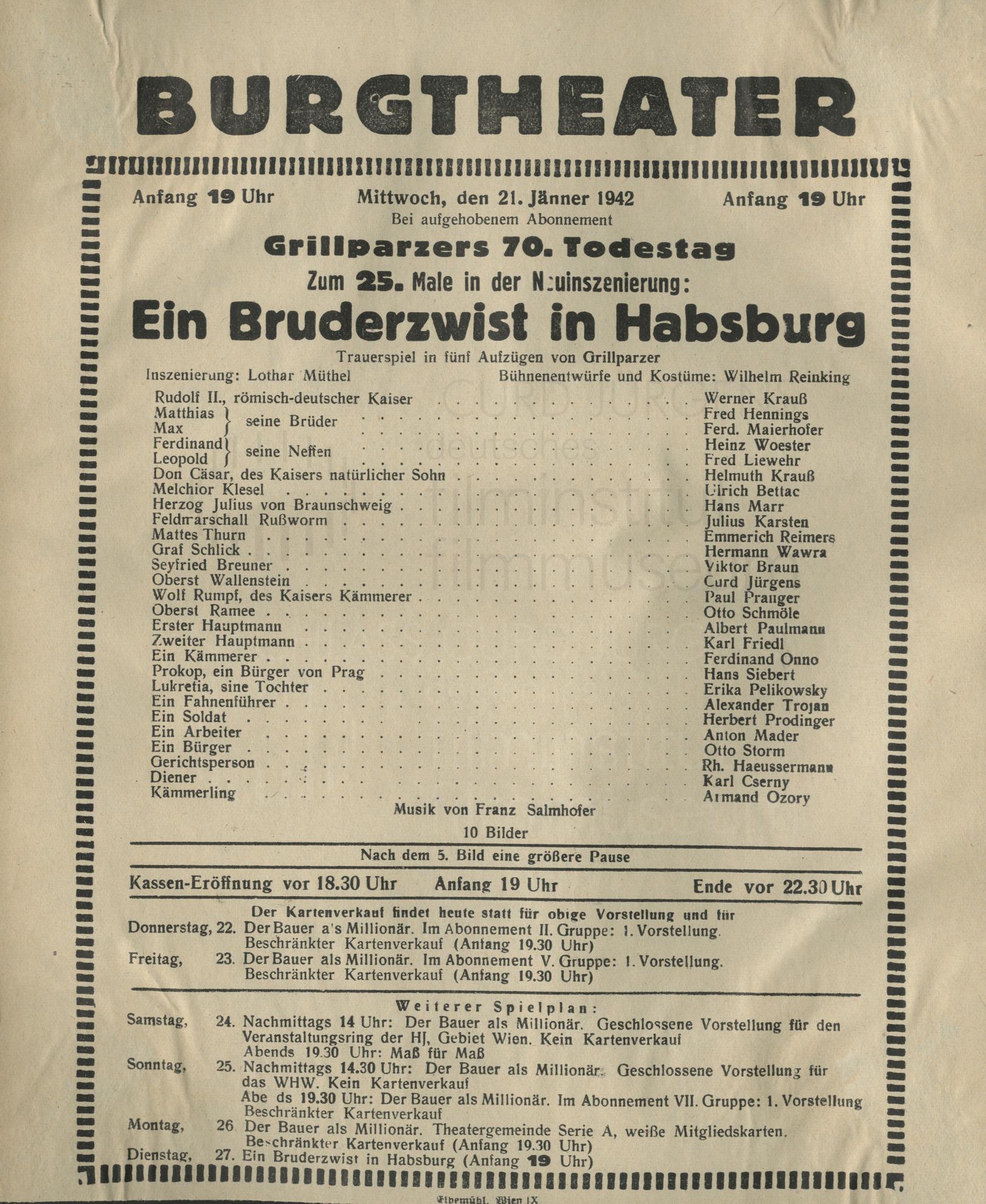"""""""Ein Bruderzwist in Habsburg"""""""