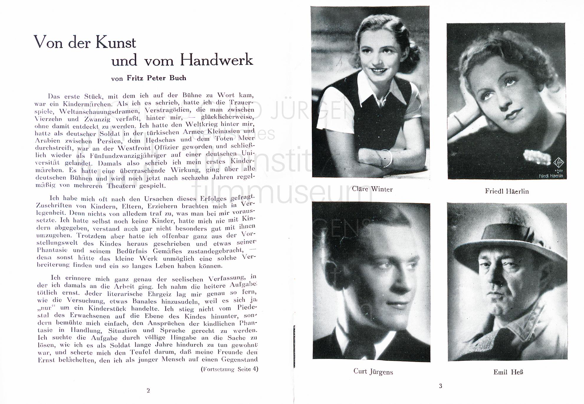 """""""Ein ganzer Kerl"""" Programm. Komödie am Kurfürstendamm, 1938"""