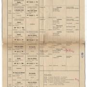 """""""Das Leben des Galilei"""" Spielplan. Burgtheater, Wien, 18.-26.12.1966"""