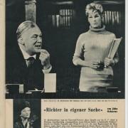 """""""Richter in eigener Sache"""" Die Bühne Nr. 87. Wien, Dez. 1965"""