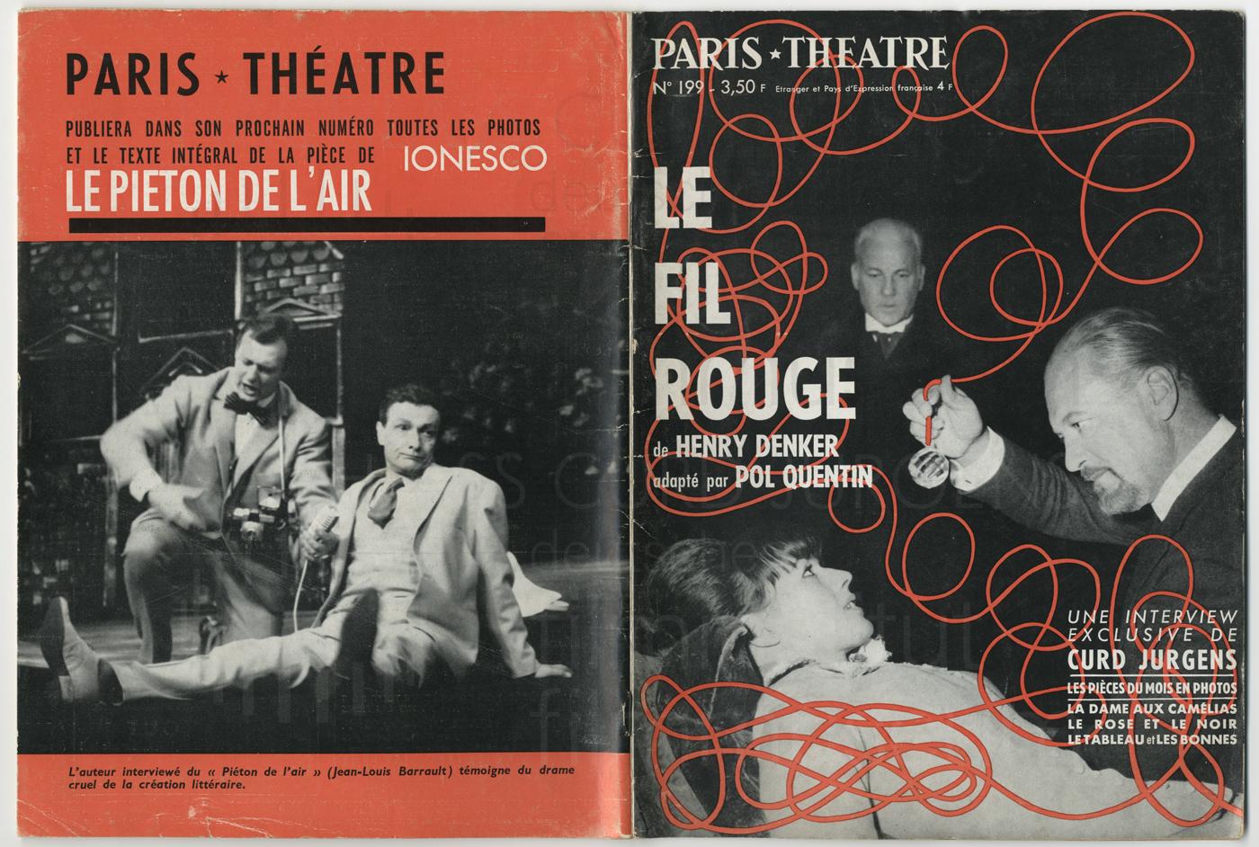 Paris Théatre Nr. 199. Paris, 1963