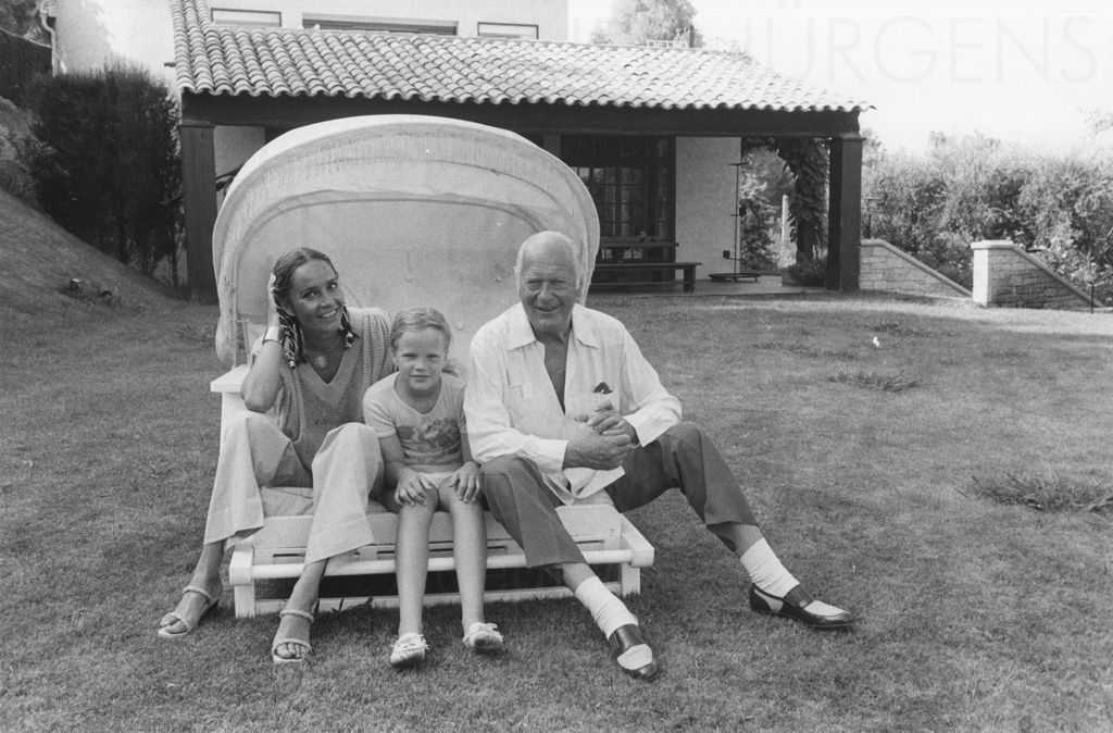 PR-Foto, Curd und Margie, St. Paul de Vence, Ende 1970er Jahre