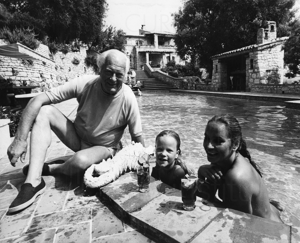 PR-Foto, Curd und Margie, St. Paul de Vence, 1979, 1