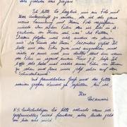Fanpost an Curd Jürgens, 5.3.1959