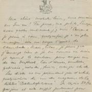 """Curd Jürgens an seine Mutter Marie-Albertine (""""Moussia""""). Zürich, 21.6.[1946]"""