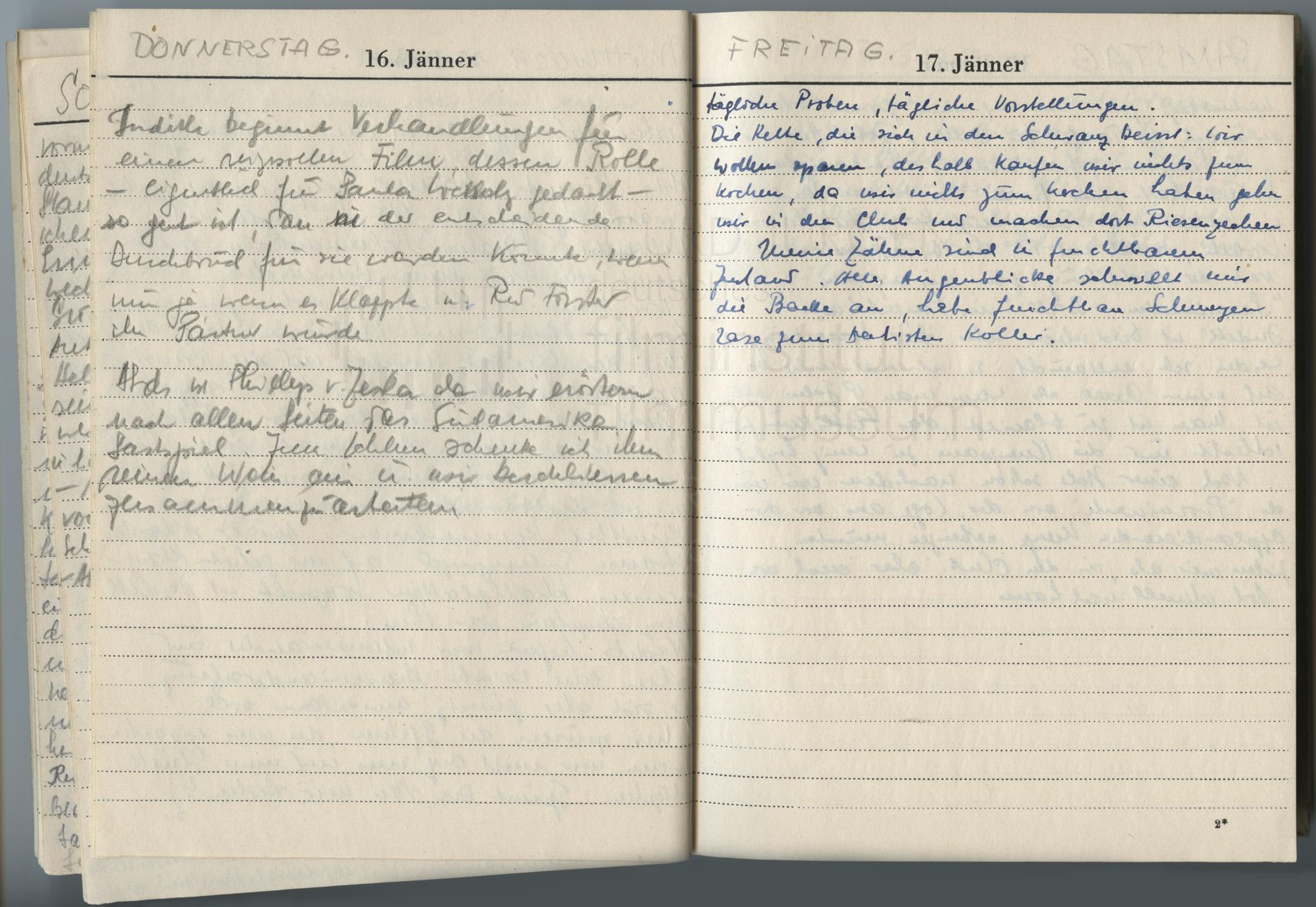 Tagebucheintrag vom 17.1.1947