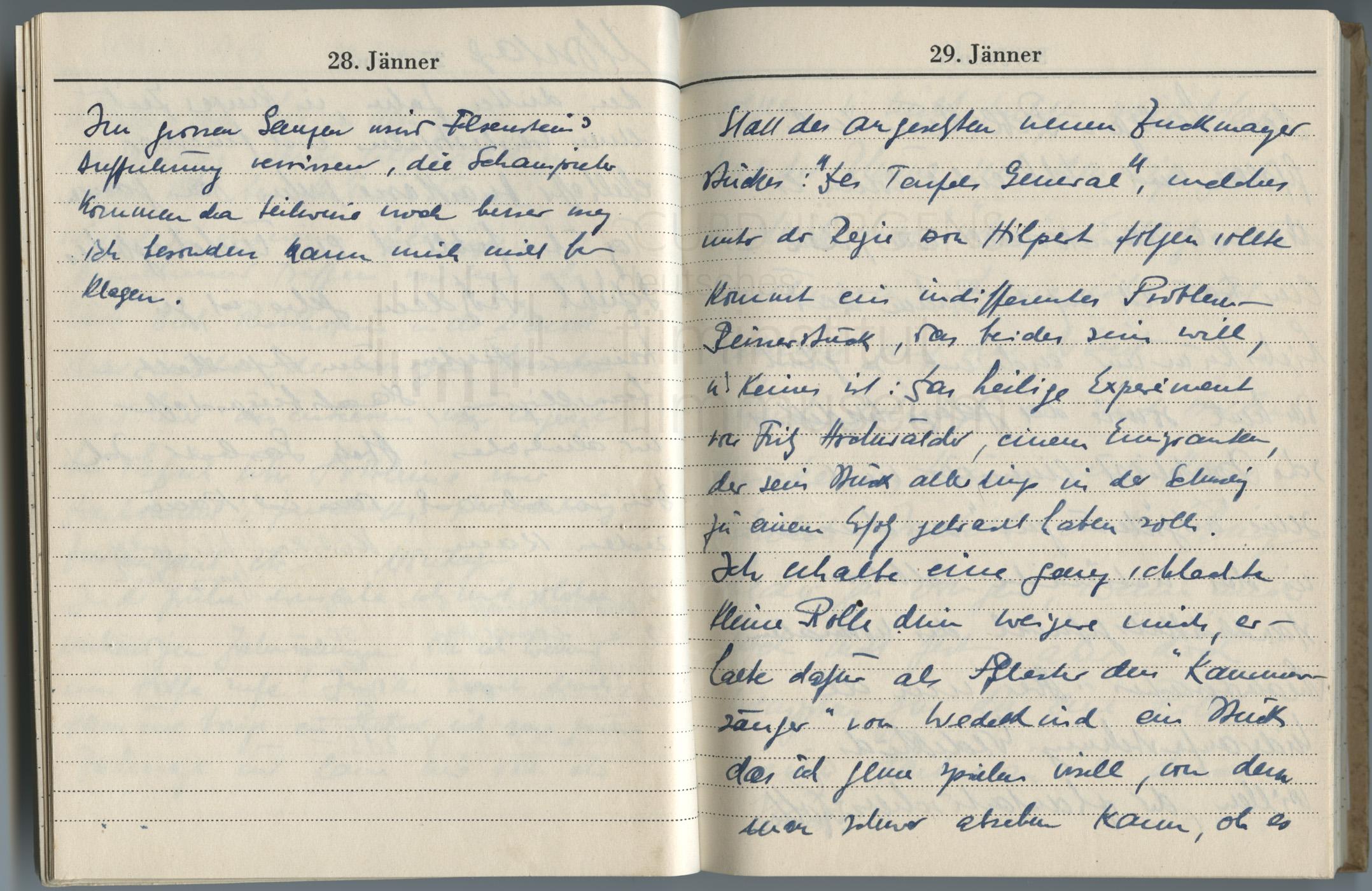 Tagebucheintragungen vom 29.1. bis 31.1.1947