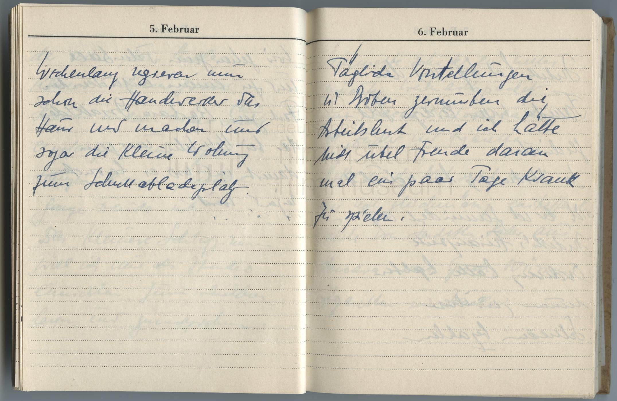 Tagebucheintrag vom 6.2.1947