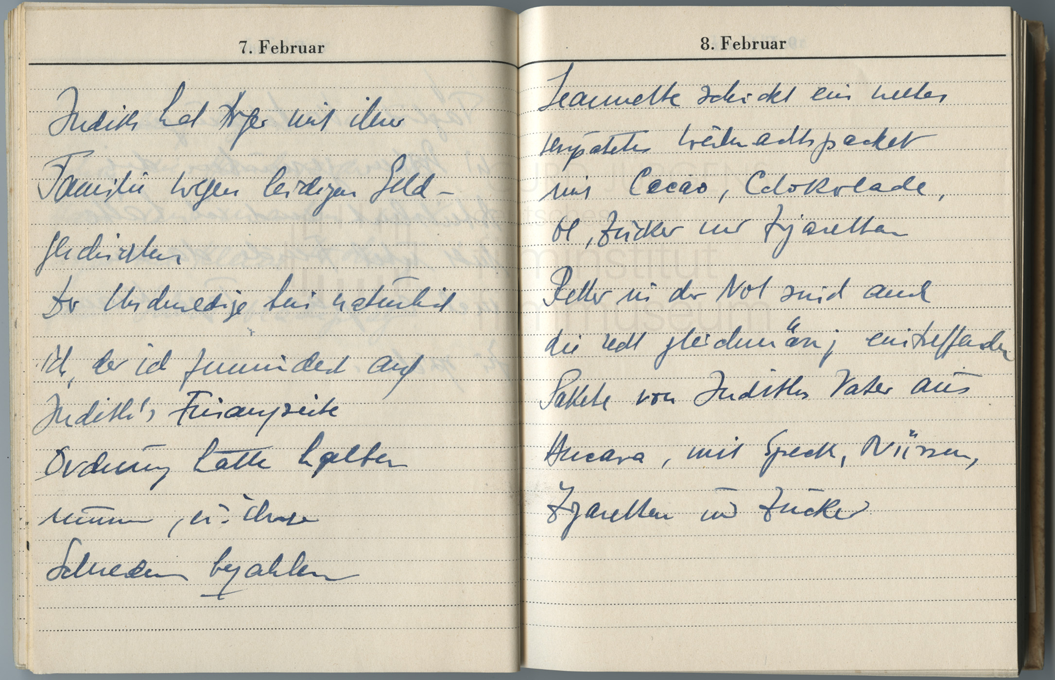 Tagebucheintrag vom 8.2.1947