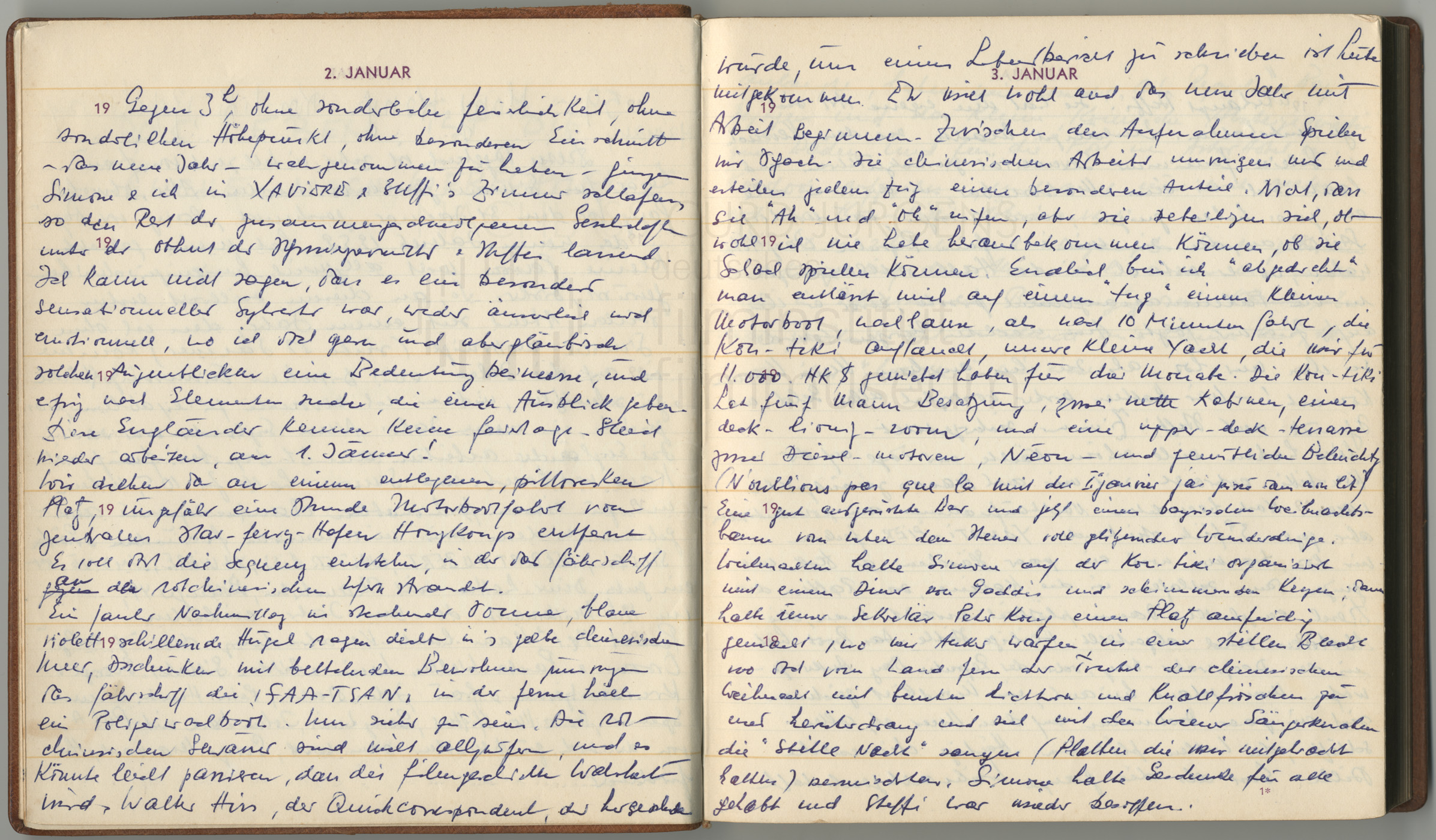 Tagebucheintrag vom 2.1.1959