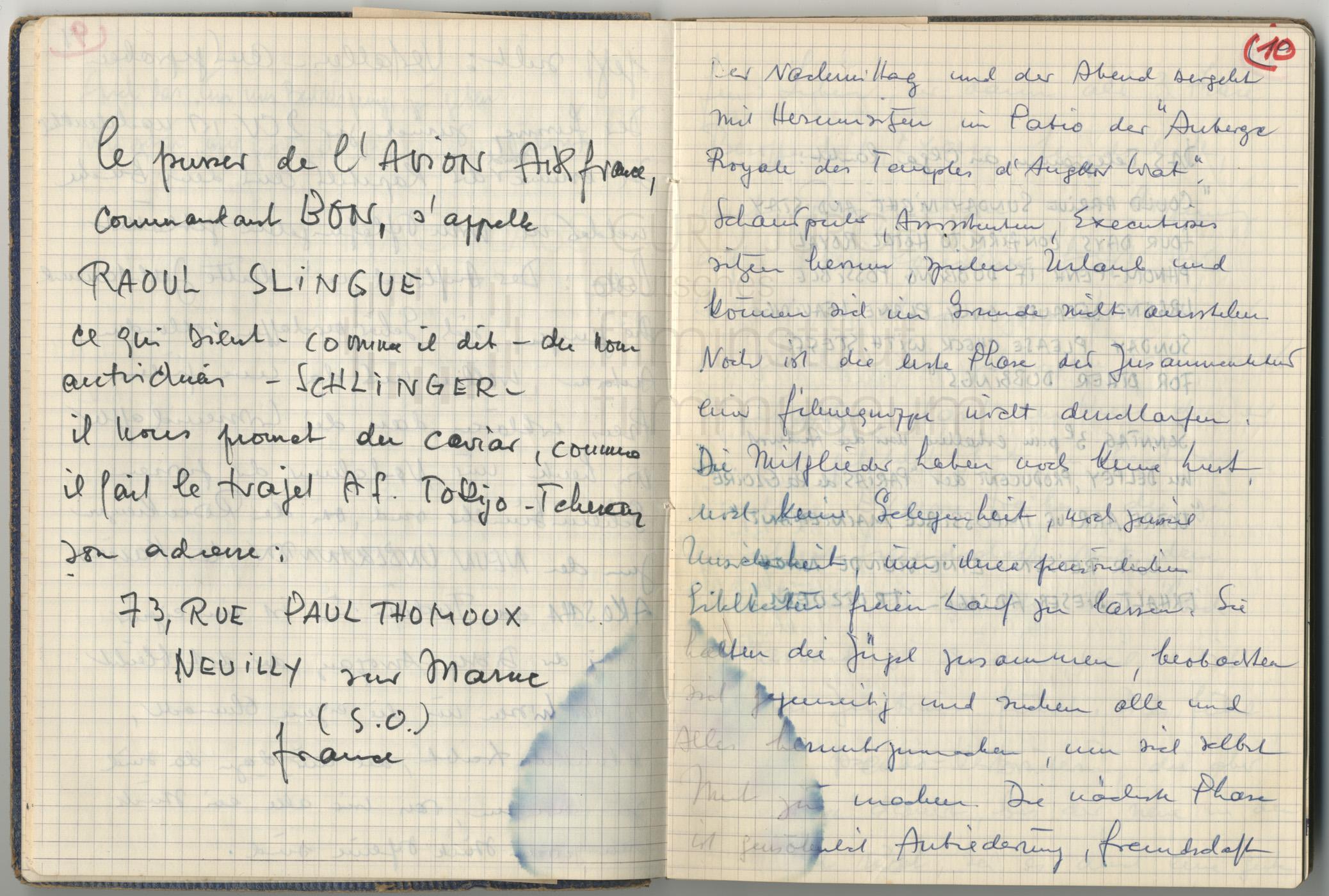 Tagebucheintragungen 1964