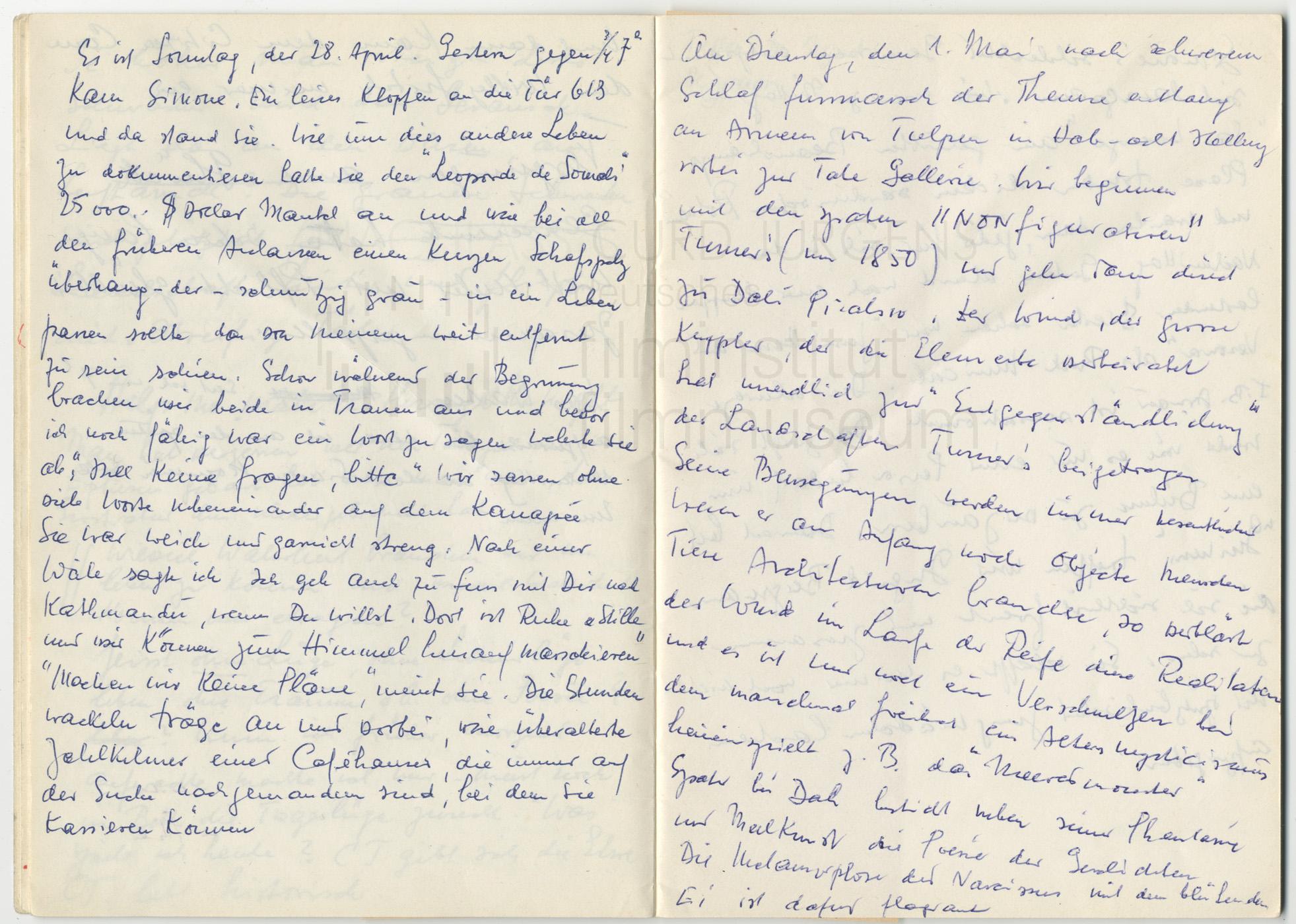 Tagebucheintrag, 28.4.1970
