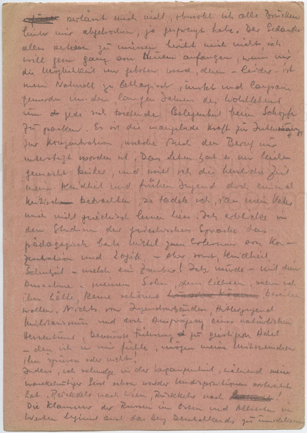 Tagebuchähnliche Aufzeichnungen über Kriegserlebnisse, Anfang 1940er Jahre