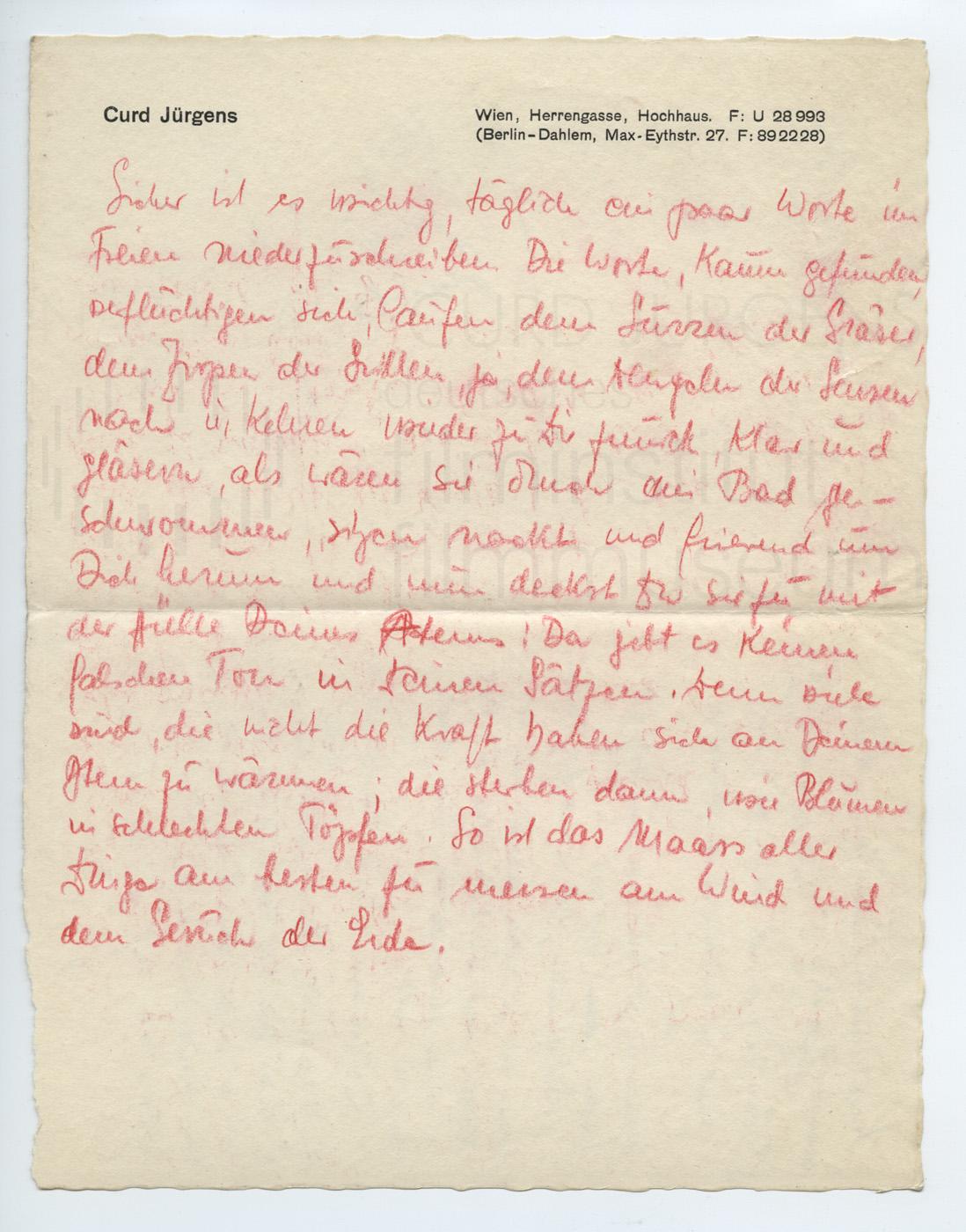 Persönliche Aufzeichnungen über das Schreiben, 1940er Jahre