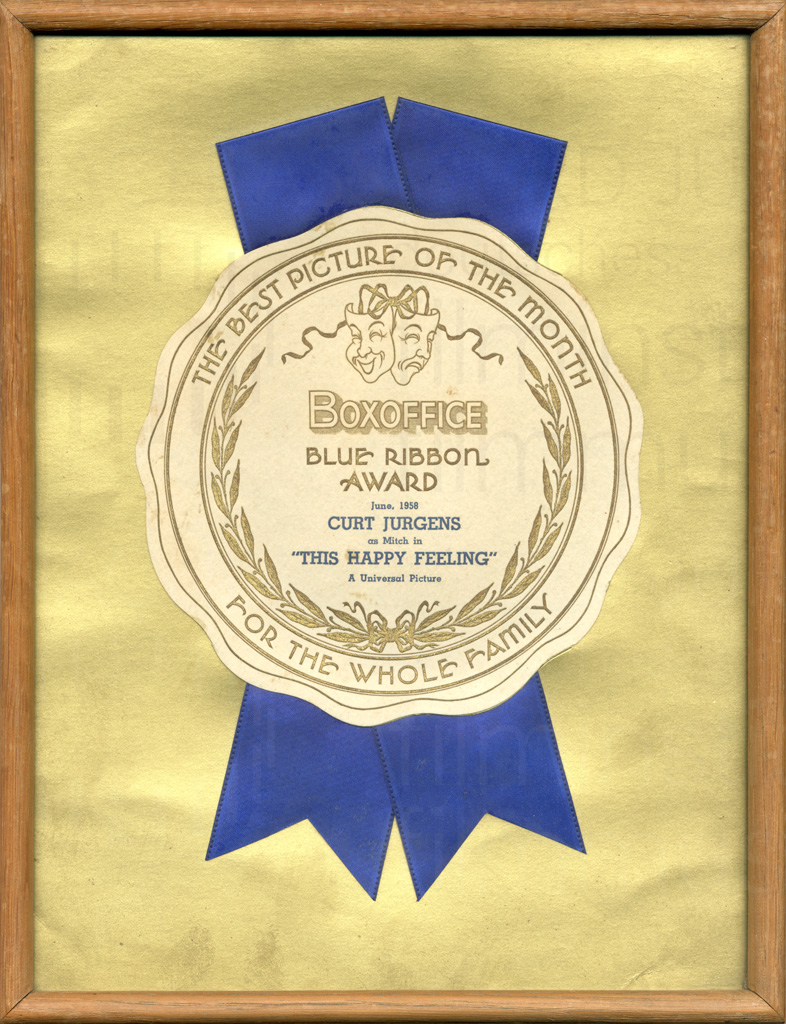 THIS HAPPY FEELING (1958) Blue Ribbon Award
